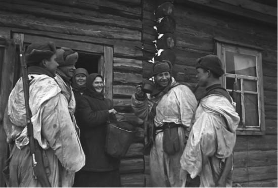 Пехота в деревне